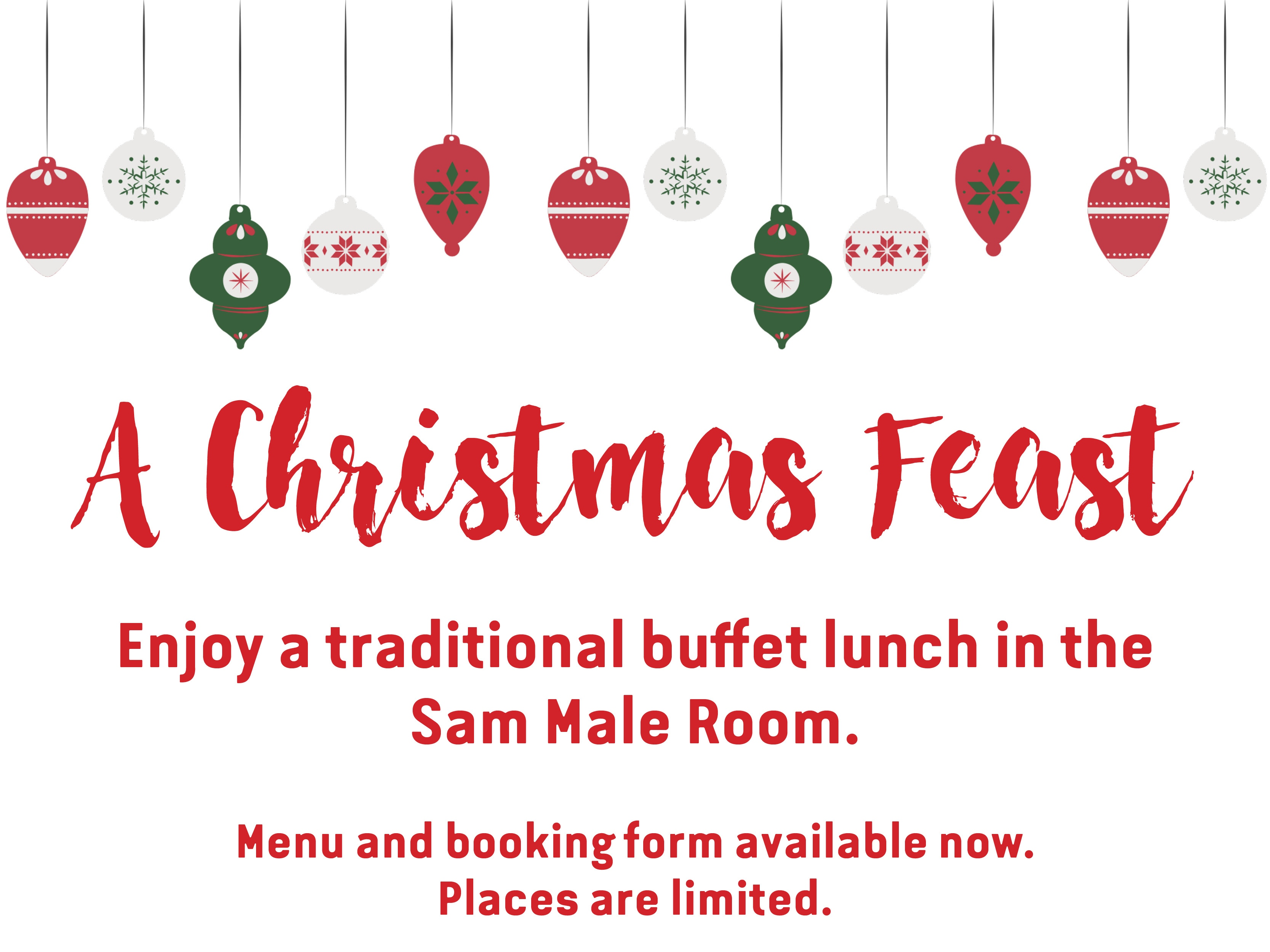 Traditional Buffet Christmas Lunch